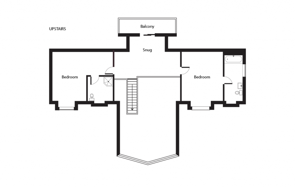 Aspen Lodge Upstairs Floorplan